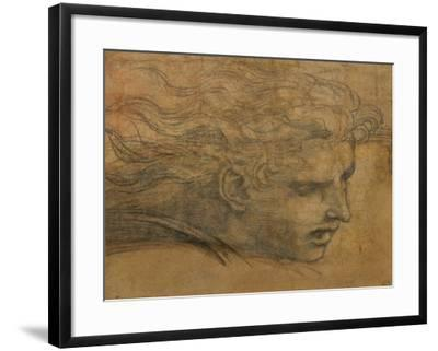 Head of a Young Man, Three Quarters Towards the Right-Raphael-Framed Giclee Print