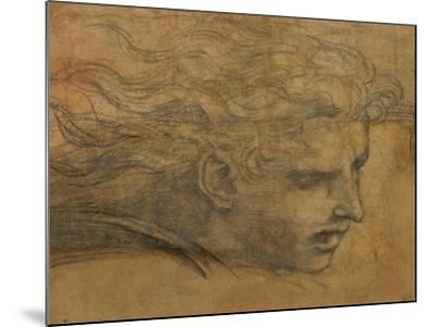 Head of a Young Man, Three Quarters Towards the Right-Raphael-Mounted Giclee Print