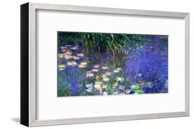 Waterlilies (Les Nympheas), Study of the Morning Water-Claude Monet-Framed Giclee Print