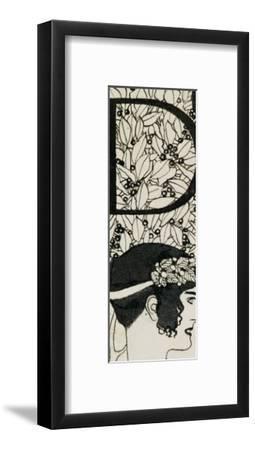 Initial D, Used in the Third Issue of Ver Sacrum, Austria, 1898-Gustav Klimt-Framed Giclee Print