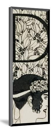Initial D, Used in the Third Issue of Ver Sacrum, Austria, 1898-Gustav Klimt-Mounted Giclee Print