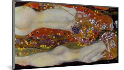 Water Serpents II, c.1907-Gustav Klimt-Mounted Giclee Print