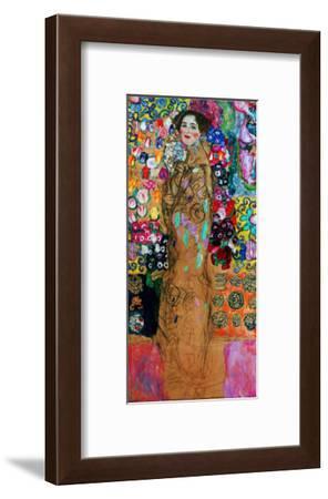 Dame Mit Faecher (Maria Munk) Lady with Fan, 1917/18-Gustav Klimt-Framed Giclee Print