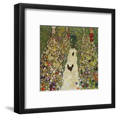 Gardenpath with Hens, 1916-Gustav Klimt-Framed Giclee Print