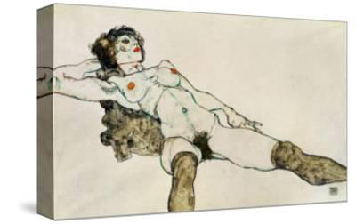 Reclining Female Nude with Legs Spread, 1914-Egon Schiele-Stretched Canvas Print