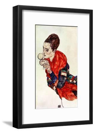 Portrait of the Actress Marga Boerner with Compact, 1917-Egon Schiele-Framed Giclee Print