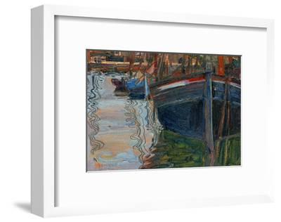 Boats Mirrored in the Water, 1908-Egon Schiele-Framed Giclee Print