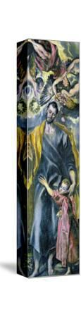 Saint Joseph and the Infant Jesus-El Greco-Stretched Canvas Print