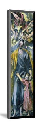 Saint Joseph and the Infant Jesus-El Greco-Mounted Giclee Print