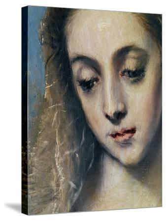 Holy Family with Saint Anne-El Greco-Stretched Canvas Print