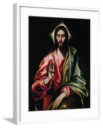 Christ Redeemer, 1610-1614-El Greco-Framed Giclee Print