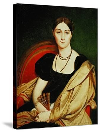 Mme. Antonia De Vaucay, 1807-Jean-Auguste-Dominique Ingres-Stretched Canvas Print