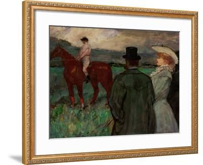 At the Race Tracks, 1899-Henri de Toulouse-Lautrec-Framed Giclee Print