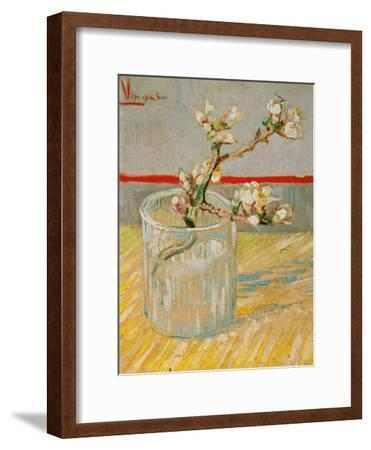 Blossoming Almond Branch in a Glass, c.1888-Vincent van Gogh-Framed Giclee Print