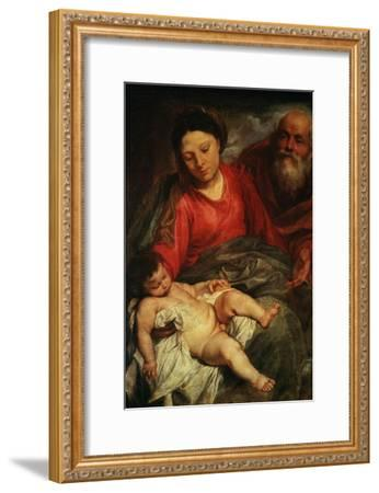 The Holy Family-Sir Anthony Van Dyck-Framed Giclee Print