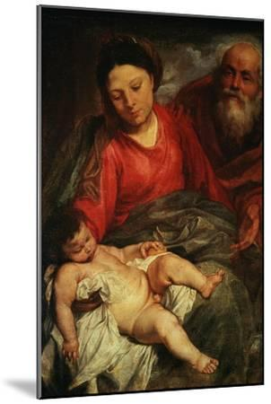 The Holy Family-Sir Anthony Van Dyck-Mounted Giclee Print