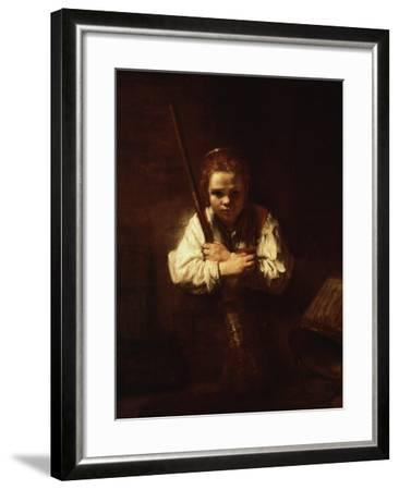 Girl With A Broom 1640 Giclee Print By Rembrandt Van Rijn Artcom