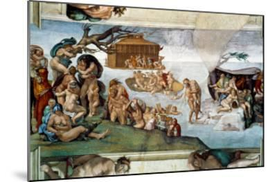 The Sistine Chapel; Ceiling Frescos after Restoration-Michelangelo Buonarroti-Mounted Giclee Print