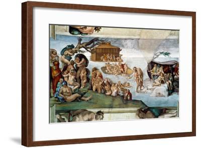 The Sistine Chapel; Ceiling Frescos after Restoration-Michelangelo Buonarroti-Framed Giclee Print