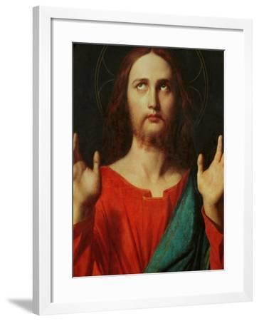 Christ, Tondo-Jean-Auguste-Dominique Ingres-Framed Giclee Print