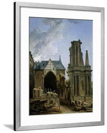 The Demolition of the Church of the Feuillants, 1805-Hubert Robert-Framed Giclee Print
