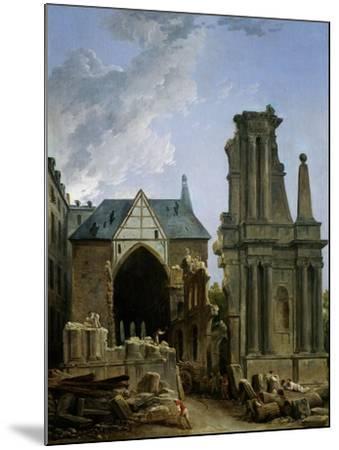 The Demolition of the Church of the Feuillants, 1805-Hubert Robert-Mounted Giclee Print