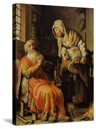 Tobit and Anna-Rembrandt van Rijn-Stretched Canvas Print