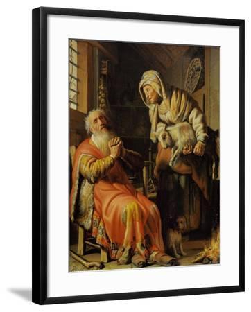Tobit and Anna-Rembrandt van Rijn-Framed Giclee Print