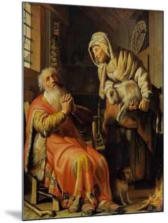 Tobit and Anna-Rembrandt van Rijn-Mounted Giclee Print