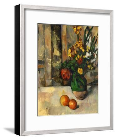Vase and Apples-Paul C?zanne-Framed Giclee Print