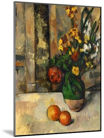 Vase and Apples-Paul C?zanne-Mounted Giclee Print