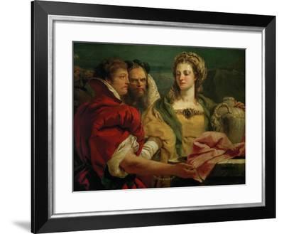 Rebecca at the Fountain-Giovanni Battista Tiepolo-Framed Giclee Print
