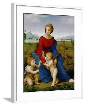 Madonna on the Meadow, 1505 or 1506-Raphael-Framed Giclee Print