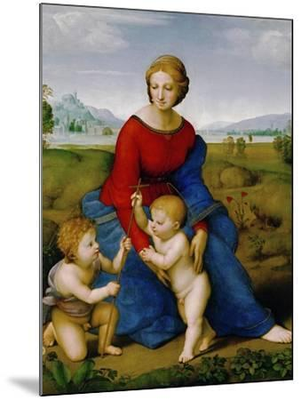 Madonna on the Meadow, 1505 or 1506-Raphael-Mounted Giclee Print