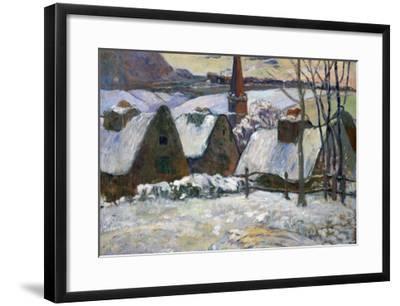 Breton Village Under Snow, 1894-Paul Gauguin-Framed Giclee Print