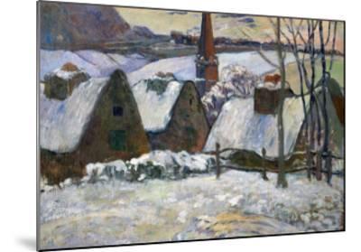 Breton Village Under Snow, 1894-Paul Gauguin-Mounted Giclee Print