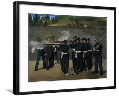 The Execution of Emperor Maximilian of Mexico, June 19, 1867-Edouard Manet-Framed Giclee Print