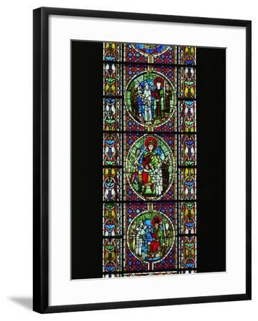 The Judgement of King Solomon, from the North Transept, Late 12th CE--Framed Giclee Print