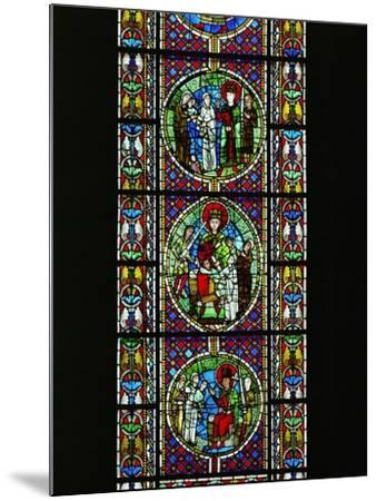 The Judgement of King Solomon, from the North Transept, Late 12th CE--Mounted Giclee Print