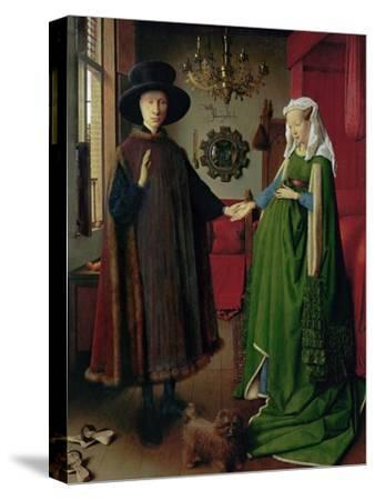 Portrait of Giovanni Arnolfini and his Wife, c.1434-Jan van Eyck-Stretched Canvas Print