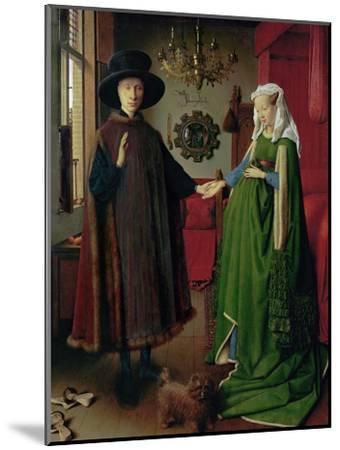 Portrait of Giovanni Arnolfini and his Wife, c.1434-Jan van Eyck-Mounted Giclee Print