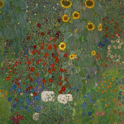 Sunflowers, 1912-Gustav Klimt-Stretched Canvas Print