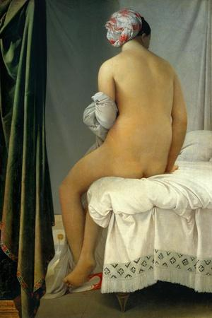Bathing Woman (Baigneuse De Valpincon), 1806-Jean-Auguste-Dominique Ingres-Stretched Canvas Print