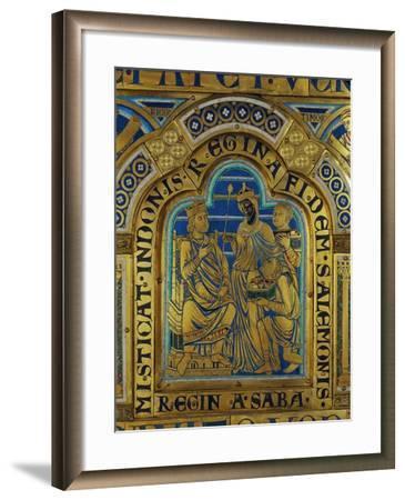 King Solomon and the Queen of Sheba, Verdun Altar, Begun 1181, Enamel-Nicholas of Verdun-Framed Giclee Print