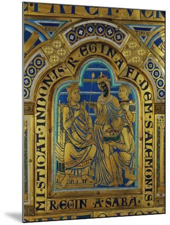 King Solomon and the Queen of Sheba, Verdun Altar, Begun 1181, Enamel-Nicholas of Verdun-Mounted Giclee Print