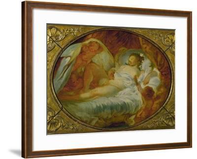 Le Feu Aux Poudres, Before 1770-Jean-Honor? Fragonard-Framed Giclee Print