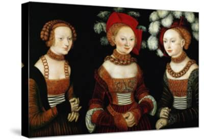 The Princesses Sibylla, Emilia, and Sidonia of Saxony, 1535-Lucas Cranach the Elder-Stretched Canvas Print