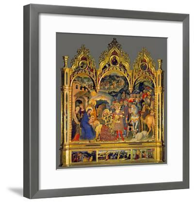 Adoration of the Magi, 1423-Gentile Da Fabriano-Framed Giclee Print