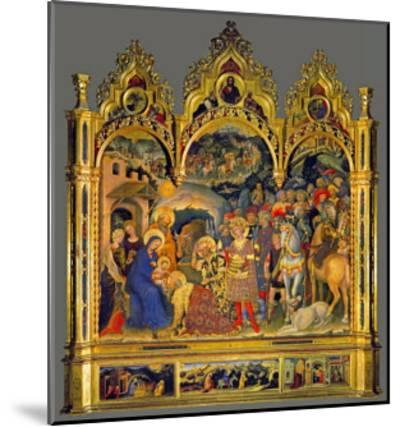 Adoration of the Magi, 1423-Gentile Da Fabriano-Mounted Giclee Print