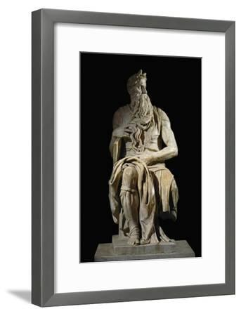 Moses, from the Tomb of Pope Julius II in San Pietro in Vincoli, Rome-Michelangelo Buonarroti-Framed Giclee Print